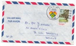 """USA-1988--Lettre De JAY-N-Y Pour BRUXELLES (Belgique)--timbre"""" Arbre""""+ LOVE (Coeur) Sur Lettre-cachet - Stati Uniti"""