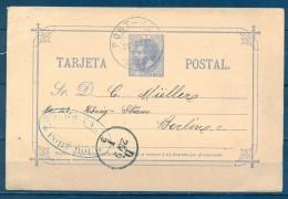 1883 , E.P. 11 , GERONA , PORT BOU , ENTERO POSTAL PRE IMPRESO AL DORSO , AGENCIA DE ADUANAS MORI WHITE & COLL - 1850-1931