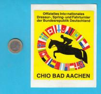 WORLD EQUESTRIAN FESTIVAL - CHIO BAD AACHEN - GERMANY ... équestre Pferdsport Original Vintage Sticker Autocollant - Equitation
