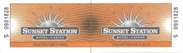 Sunset Station Casino Las Vegas, NV - Contest Ticket With Attached Stub (Unused) - Casino Cards