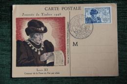 LOUIS XI, Roi De France, Journée Du Timbre 1945,TOULOUSE, Créateur De La Poste Par Relais. - Historical Famous People