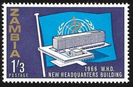 ZAMBIA - Scott #27 Inaguration Of WHO Headquarters - Geneva / Mint H Stamp - Zambie (1965-...)