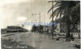 38492 ITALY VIAREGGIO LUCCA WALK & STREET CIRCULATED TO ARGENTINA POSTAL POSTCARD - Italia