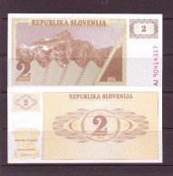 SLOVENIE 1990 2 TOLARS  NEUF UNC P2 - Slovenia