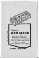 LION BLANC - Buvards, Protège-cahiers Illustrés