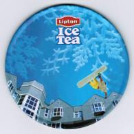 SOUS-BOCK LIPTON ICE TEA ( EN METAL ET LIEGE ) - Sous-bocks