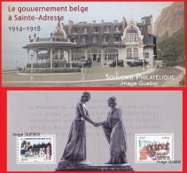 France - Feuillet Bloc Souvenir N° 110 ** Gouvernement Belge à Sainte-Adresse - Souvenir Blokken