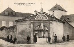 CPA SAINT GERMAIN DU TEIL. école Chrétienne Des Garçons. Enfants, Enseignant. - Frankrijk