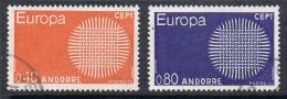 ANDORRE N°202 ET 203  EUROPA