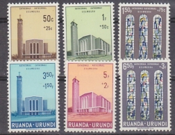 Ruanda-Urundi 1961 Cathedral Usumbura 6v ** Mlnh (29513) - 1948-61: Ongebruikt