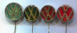VW Volkswagen - Car Auto Automotive, Vintage Pin  Badge, 4 Pieces - Volkswagen