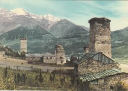 Georgia Medieval Watch Towers In Svanetia Postcard - Georgië