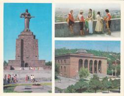 Erevan Mother Armenia Monument, Academy Of Sciences 14x18cm Card - Turkmenistan