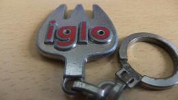 Année 60 Porte Clé Métal émaillé IGLO - Porte-clefs