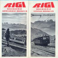 Switzerland. The Rigi Railway. - Tourism Brochures