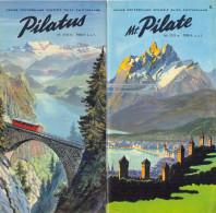 Switzerland. The Mt. Pilate Railway. - Tourism Brochures