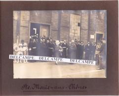 SAINTE MARIE Aux CHÊNE Juillet 1919 - 2 Photos De La Visite De Mr Millerand Des Usines De Lorraine ( Moselle ) - Lugares