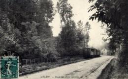 77 MELUN Edit.ND No172  Route Des Trois Moulins Tramway à Vapeur De Verneuil L´Etang TRAIN - Melun