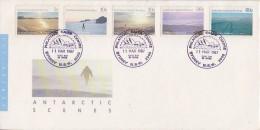 AAT 1987 Antarctic Scenes 5v FDC (F5191) - FDC