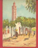 CASABLANCA Ville Indigène, Rue Et Mosquée Par Henri NOIZEUX Illustrateur Editeur Barré-Dayez N° 3501 B - Illustrateurs & Photographes