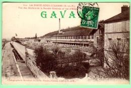 77 LA FERTE-sous-JOUARRE - Vue Des Ateliers De La Société Générale Et Rue D'Ussy - La Ferte Sous Jouarre