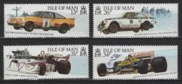 GB - Isle Of Man (1988) Yv. 363/66  /  Racing Cars - Voitures - Grand Prix - Rally - Mansell - Vatanen - Auto's