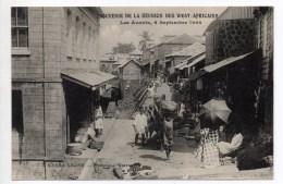FREETOWN (SIERRA LEONE) - UNE RUE - LES AVANTS 6 SEPTEMBRE 1908 - SOUVENIR DE LA REUNION DES WEST AFRICAINS - Sierra Leone