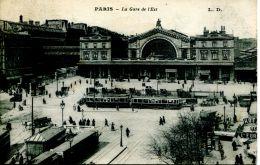 N°49665 -cpa Paris -la Gare De L'Est- - Bahnhöfe Ohne Züge