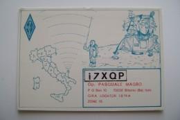 BITONTO  BARI       DISEGNO DRAWING    Radio Amateurs   QSL RADIO CARD  QXL  CARD OPERATOR - Radio Amateur