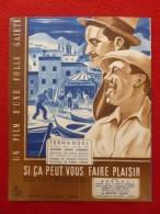 AFFICHE FERNANDEL SI CA PEUT VOUS FAIRE PLAISIR 1948 PASSEURS D OR LA FIGURE DE PROUE 48 X 31 - Affiches