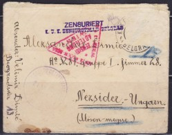 7891. WWII, Austria, Hungary, Serbia, 1916, Censored Letter From Serbia To Hungary - 2. Weltkrieg