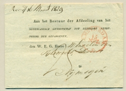 Nederland - 1829 - Amsterdam PEP 6020-74 Op Omslag Naar Genootschap Tot Zedelijke Verbetering Der Gevangenen - ...-1852 Voorlopers