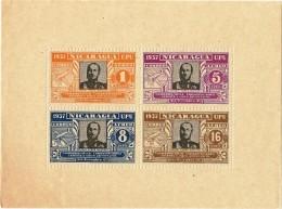 NICARAGUA 1938. HOJA BLOQUE 75 ANIVERSARIO DE U.P.V. - Nicaragua