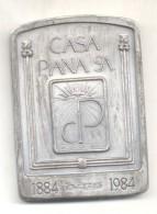 CENTENARIO DE LA CASA PIANA - ACUÑADOR MEDALLISTA ARGENTINA - INMIGRACION ITALIANA ARTISTAS DEL GRABADO GRABADORES MEDAL - Firma's