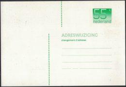 AH82      Netherlands Verhuiskaart 1986 Geuzendam Nr 48 New (fosforbalk 22 Mm Hoog) - Postal Stationery