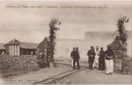 MAROC Campagne  CASABLANCA Le General D Amade Arrivant Au Camp N°3 - Casablanca