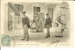 CPA  AIX LES BAINS, Départ Pour La Douche  9356 - Aix Les Bains