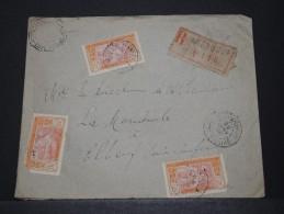 COTE D'IVOIRE - Env Recommadée Pour La France Affranchie R°V° - Janv 1926 - A Voir - P17845 - Côte-d'Ivoire (1892-1944)