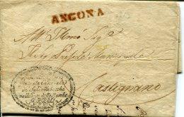 8587 Italia, Prefilat. 1815 Da Ancona A Castignano.....sali E Tabacchi  Nelle Prov. Delle Marche - ...-1850 Préphilatélie