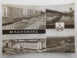 CP  Allemagne - MAGDEBURG -  Karl Marx Strasse  - Interhôtel International  - Die Neue Strombrucke  - Kulturpark Rotehom - Magdeburg
