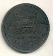 INAUGURACION DEL FERROCARRIL ANDINO ARGENTINA MEDALLA MEDAGLIA AÑO 1885 TBE - Firma's