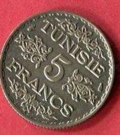 TUNISIE  5 FRANC      ( G 94  )  TB+   7 - Colonie