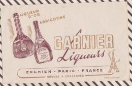 99 BUVARD LIQUEURS GARNIER LIQUEUR D'OR ABRICOTINE ENGHIEN  13 X 21 CM - Liquor & Beer
