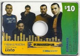 Ecuador - Bellsouth - Music CD - Elefante, Ramote Mem. 10$, Used - Ecuador