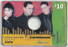 Ecuador - Bellsouth - Music CD - Tranzas, Ramote Mem. 10$, Used