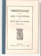1851 -VOORZIENIGINGS-KAS  DER VISSCHERS Van De Stad En Haven Van NIEUPORT 1851 16p. - Pêche