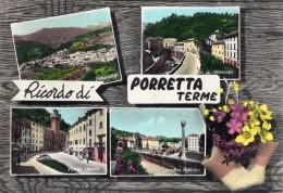 BOLOGNA-PORRETTA TERME-RICORDO DI-VG-FRANCOBOLLO STRAPPATO - Bologna