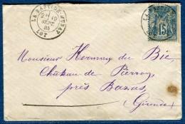 France  -Enveloppe De La Bastide - Murat En 1884   Voir 2 Scans   Réf. 822 - Postmark Collection (Covers)