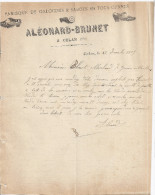 FABRIQUE DE GALOCHES & SABOTS EN TOUS GENRES   ALEONARD -BRUNET   CULAN CHER 1905 - Textile & Vestimentaire