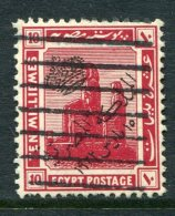 Egypt 1922 Proclamation Of Monarchy Overprints - 10m Colossi Of Amenophis II Used (SG 103) - Egypt